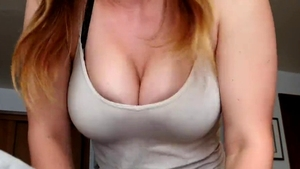 Long haired pornstar POV cumshot in the woods