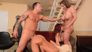 Group sex alongside big tits stepmom Eva Notty