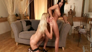 Black Angelika & Nancy Bell ass fucked