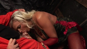Romantic orgasm in company with big tits british blonde babe