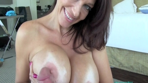Cumshot along with busty MILF Charlee Chase
