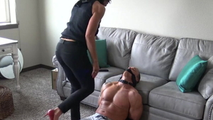 Femdom along with muscled american stepmom