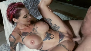 Inked and big boobs Anna Bell blowjob