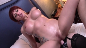 Hard pounding together with large tits Amber Michaels