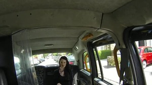 Huge tits goth really enjoys rough hard ramming in the car