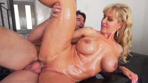 Super sexy and busty babe Ryan Conner oiled good fuck