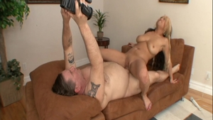 Rough sex scene together with big tits amateur Mia Rider