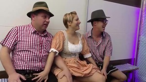 Shaved deutsch amateur feels the need for group sex HD