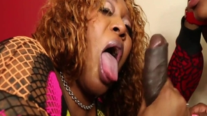 Ghetto african whore sucks BBC and group sex