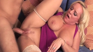 Young busty mature Alexis Golden getting facial