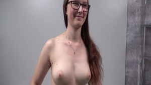 Chubby babe POV at casting
