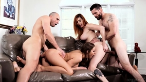 Group sex together with horny MILF