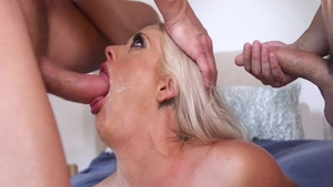 Busty Holly Heart hotwife getting a facial sex tape