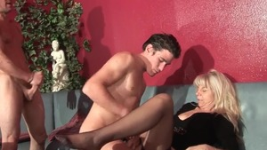 Skinny french mature anal double HD
