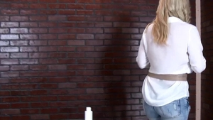Large tits blonde hair Nathaly Cherie in jeans gloryhole