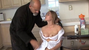 Fingering in company with stepmom