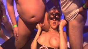 Passionate busty BBW erotic gangbang in HD