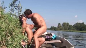 Shaved german amateur blowjob cum outdoors in HD