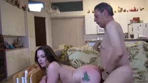 Shaved couple sucking dick anal fucking in HD