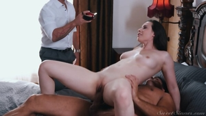 Busty brunette Casey Calvert finds irresistible ramming hard