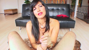 Hairy latina granny handjob on a holiday