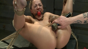 Fetish bondage accompanied by hairy girl Kristina Rose