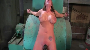 Big ass & busty Trina Michaels bondage during interview