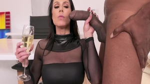 Lustful and big tits mature Kendra Lust rough sucking cock