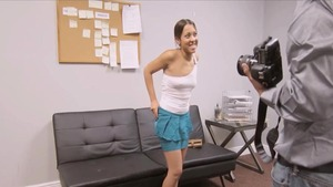 Handjob at the audition petite latina Sophia Torres in HD