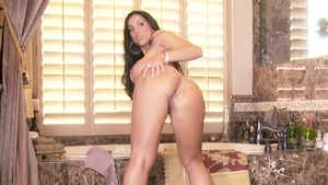 Large boobs latina MILF Brianna Jordan fingering butt fucking