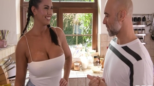 Chloe Amour & Christian Clay in the kitchen
