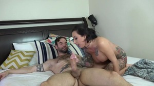 Loud sex along with tattooed latina MILF Lily Lane