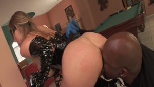 Slamming hard escorted by big butt mature