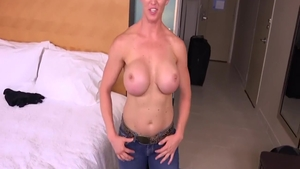 Short hair MILF wishes facial in HD