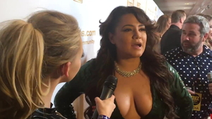Big boobs latina pornstar does what shes told during interview