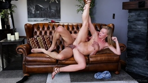 Blonde haired likes nailing