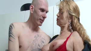 Hardcore dick sucking together with deutsch blonde
