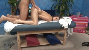 Massage Session With slamming And Facial goo flow