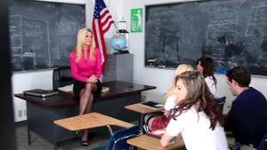 Egyptian India Summer in high heels in the school HD