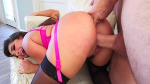 Hardcore doggy sex along with brunette Karlee Grey HD