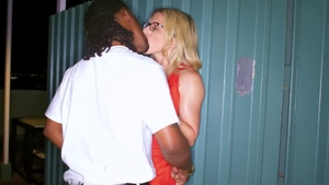 Big boobs blonde haired interracial banging in HD