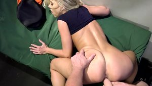 Katie Morgan getting facial