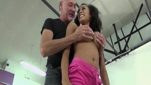 Raw hard sex with Ben Dover escorted by young Alyssa Divine