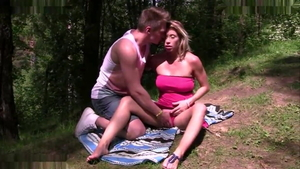 Rough russian flashing outdoors