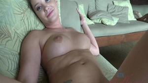 Young blonde hair Gia Paige enjoys rough nailing
