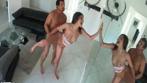 Young Adria Rae playing with big dick Tommy Gunn