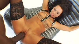 Very hot whore Sandra Romain helps with hard ramming