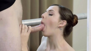 Hard fucking in company with nice brunette