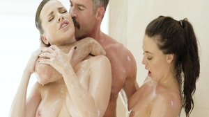 Brunette Dana Dearmond and very hot Whitney Wright threesome