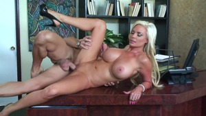 Latina Diamond Foxxx and Mikey Butders cowgirl fuck in office